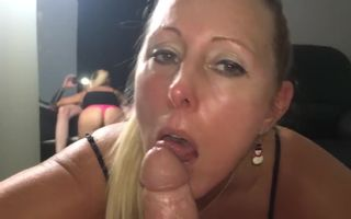 Big assed blonde MILF mouth..