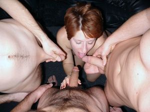 Homemade gangbang pictures, many cocks..