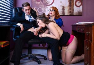 Hot secretaries Lena Paul and Lauren..