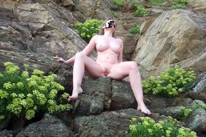 Wife exhibitionist at the resort