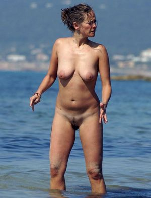 Naked women with legs wide apart,..