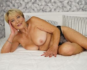 Wild for sex granny Malya riding cock..