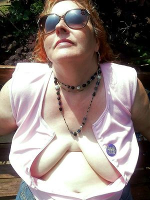 Amateur mature BBW with hanging titties