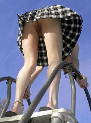 Mixed erotic and upskirt pics with..