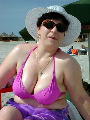 Summer amateur photos with mature..