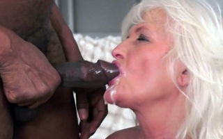 Gorgeous granny banged by big..
