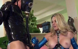 Angela Attison in latex gets..