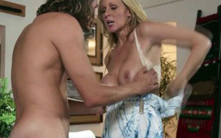Pounded milf spunked over